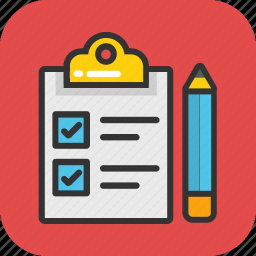 checklist, checkmark, clipboard, done, tick icon