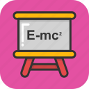 einstein, emc2, equation, physics, science icon
