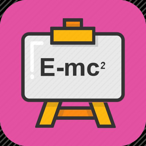 einstein, emc2, equation, physics, science icon
