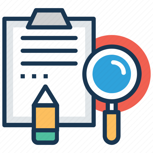 case history, case study, dossier, investigation, research icon