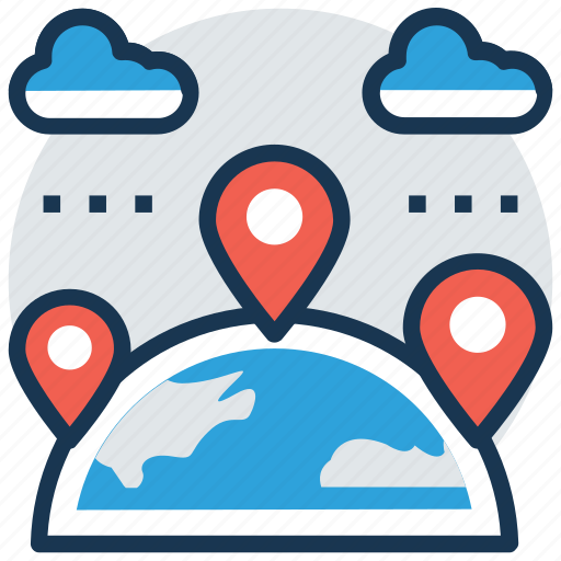 global location, location pin, map positioning, placeholder, travel distance icon