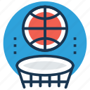 backboard, basketball, basketball hoop, basketball stand, sports icon