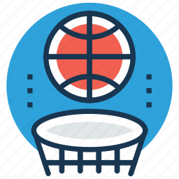backboard, basketball, basketball hoop, basketball stand, sports icon