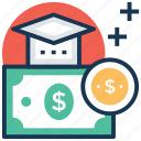 educational loan, scholarship, sponsored education, student grant, student loan icon