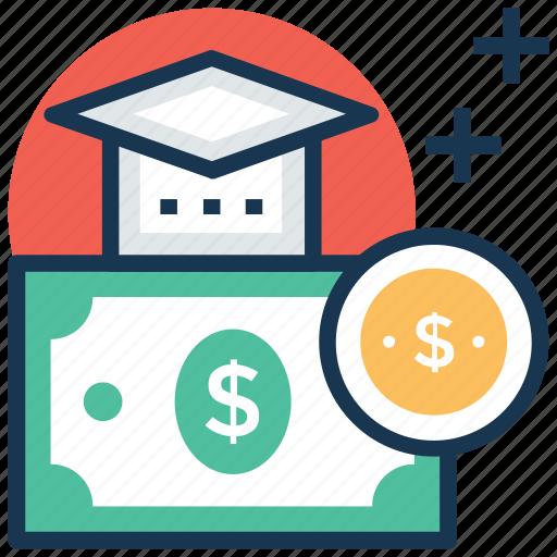 educational loan, scholarship, sponsored education, student grant, student loan icon
