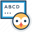 abc, alphabets, english learning, kindergarten, teaching icon