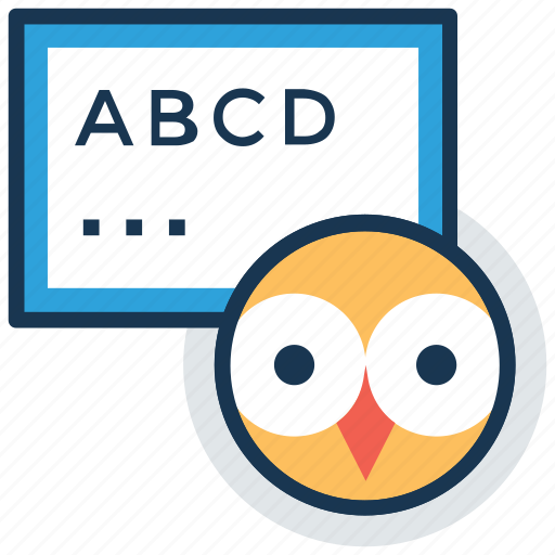 abc, alphabets, english learning, kindergarten, teaching icon
