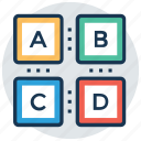 abc blocks, alphabets, basic knowledge, building blocks, kindergarten icon