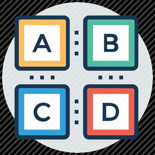 abc blocks, alphabets, basic knowledge, building blocks, kindergarten icon