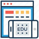 academic apps, digital education, education apps, education technology, modern education icon