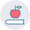 apple, book, education, knowledge, notebook, study icon