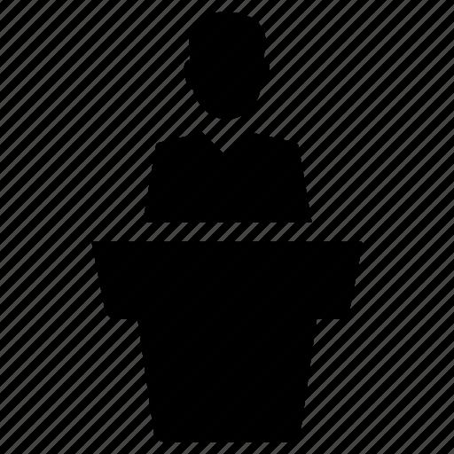 Conference, meeting, presentation, speaker icon - Download on Iconfinder