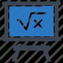 blackboard, education, math, mathematics icon