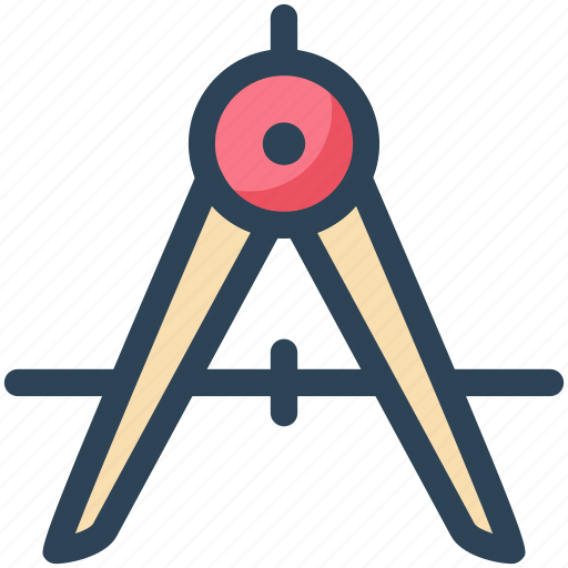 Circle, compass, draw, education, study icon - Download on Iconfinder