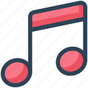 education, music, note, school, sing song, sound icon