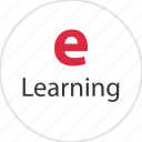elearning, electronic, internet, learn, learning, onlinelearning, web icon