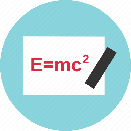 board, emc2, equation, learn, learning, math, problem icon