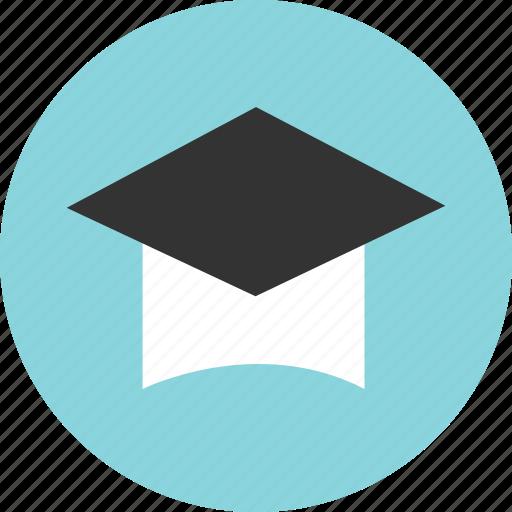 cap, college, degree, graduate, graduation, highschool icon