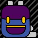 bag, briefcase, education, schoolbag, icon