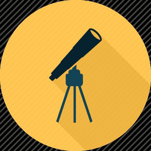 school, scientific, study, telescope icon