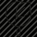 bio, leaf, magnifier icon