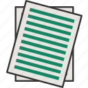 document, paper, paper sheet, paperwork icon