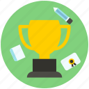award, badge, certificate, medal, trophy, winner icon icon