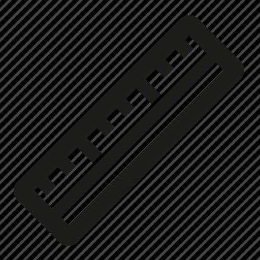 geometry, measure, ruler, tool icon