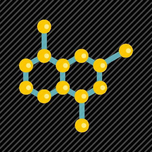 atom, chemistry, crystal, molecule, science, scientific, sphere icon