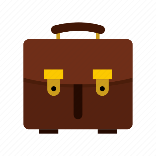 bag, briefcase, brown, business, case, leather, office icon