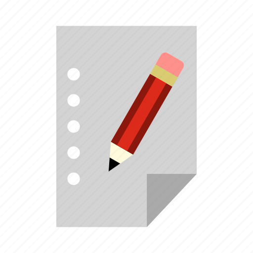 list, note, notebook, notepad, paper, pencil, wish icon