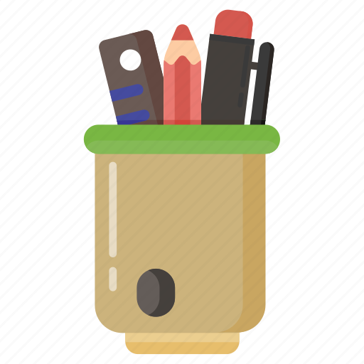 education, eraser, office, pen, pencil, people, ruller, school, student, tools, writting icon