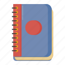 book, education, guide, list, note book, phone book, student, teacher, tools, writting icon