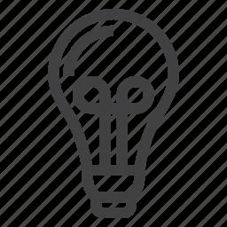 bulb, education, idea, lamp, light icon