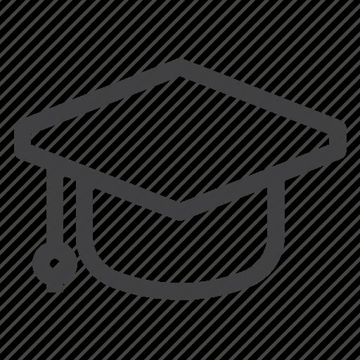 cap, degree, education, graduate, graduation icon