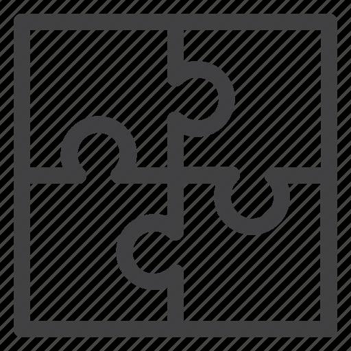 education, idea, puzzle, solution icon