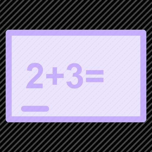 addition, blackboard, board, mathematics, maths, operation icon