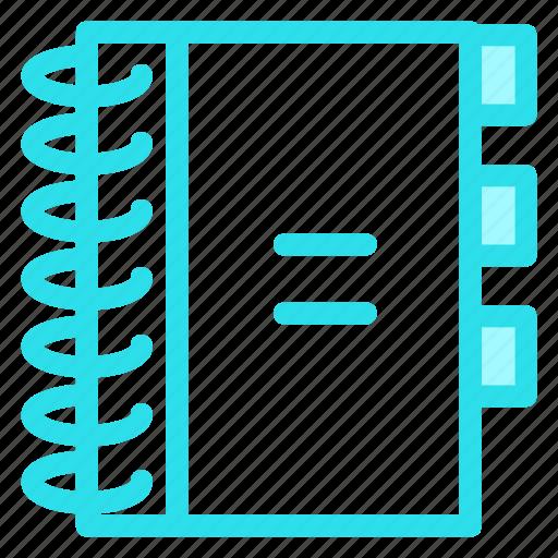 agenda, contacts, telephonebook icon