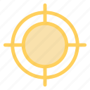 aim, goal, shoot, success icon