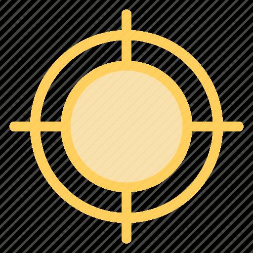aim, goal, shoot, success icon