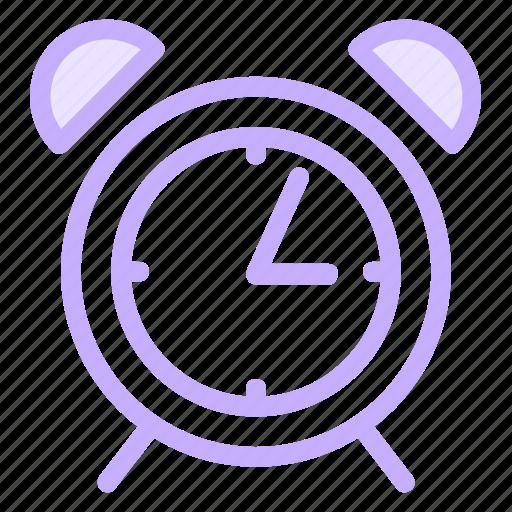 alarm, bell, clock, morning, ringing, time icon