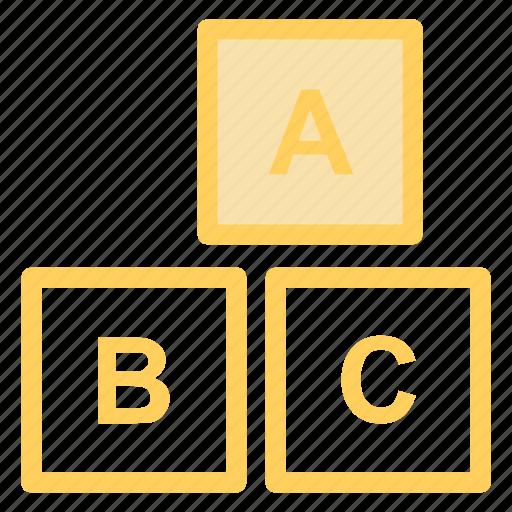 alphabet, box, boxes, child, cube, cubes, education, englishicon icon