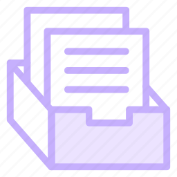 archive, box, document, file, officematerial icon