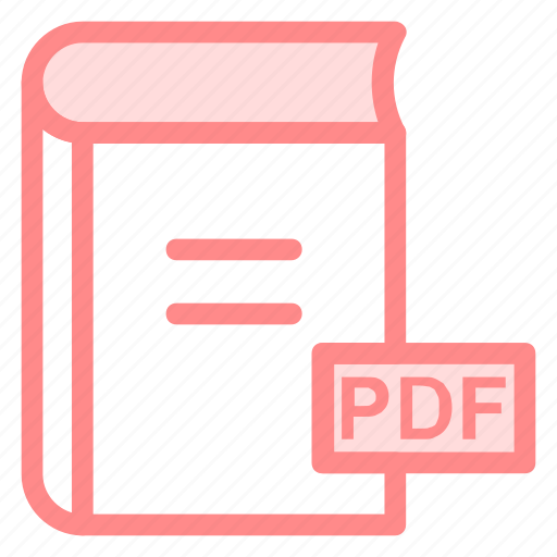 book, pdf, pdfbook, pdffile, pdfformaticon icon