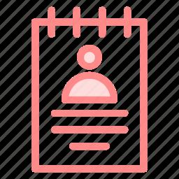 businessprofile, curriculumvitae, personalprofile, professionalprofile, resume icon