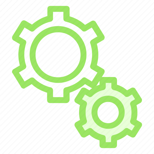 cogwheels, configuration, gears, interface, settings, three, wheels icon