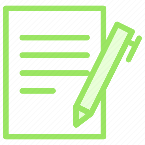 contract, document, pen, signature, signing icon
