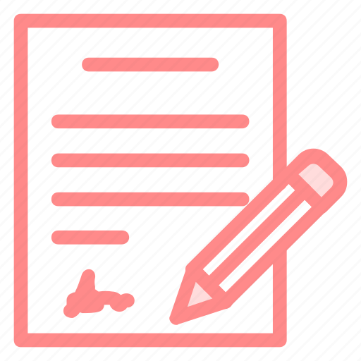 agreement, contract, document, pencil, signature, signing icon