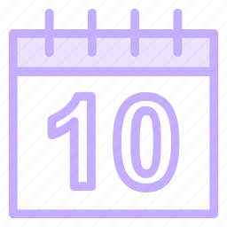 day, month, number, thirty, wallcalendar icon