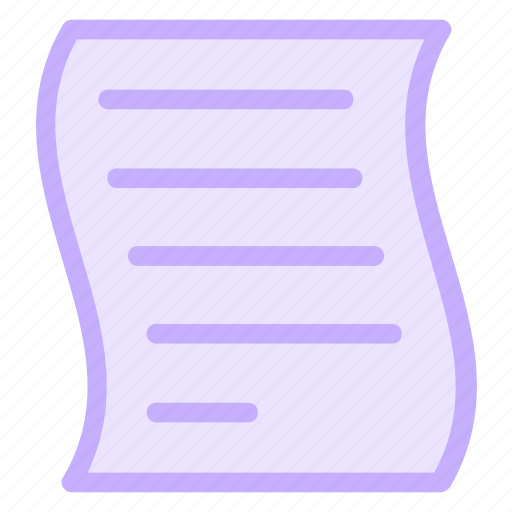 document, letter, note, paper icon